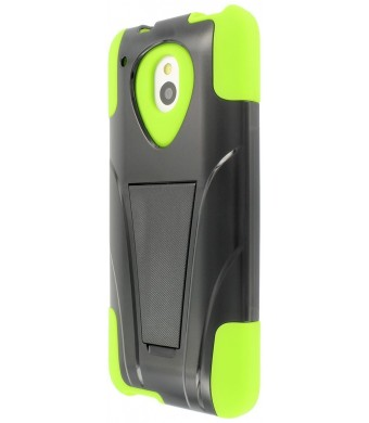 MPERO IMPACT X Series Kickstand Case for HTC One Mini - Black / Neon Green
