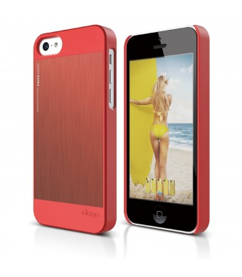 elago S5 Outfit Morph MX Aluminum and Polycarbonate Dual Case for the iPhone 5C - eco friendly Retail Packaging (Italian Rose / Italian Rose)