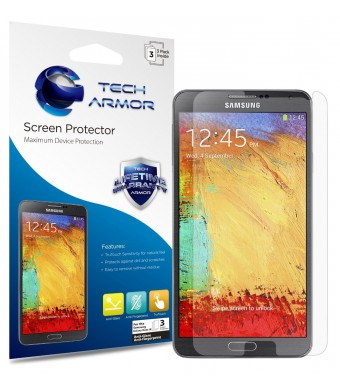 Tech Armor Samsung Galaxy Note 3 Anti-Glare/Anti-Fingerprint (Matte) Screen Protectors [3-Pack] Lifetime Warranty