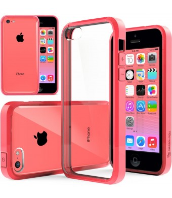 iPhone 5C case, Caseology [Clear back Bumper] [Pink] DIY Customization Fusion Hybrid Cover [Shock Absorbent] Apple iPhone 5C case