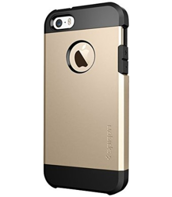 iPhone 5S Case, Spigen Tough Armor Case for iPhone 5/5S - Champagne Gold (SGP10584)
