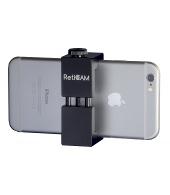 "RetiCAM Smartphone Tripod Mount - Metal Universal Smart Phone Tripod Adapter - Standard Size (2.1"" to 3.1""), Black"