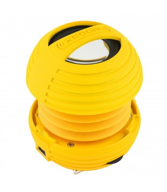XBOOM Mini Portable Capsule Speaker with Rechargeable Battery and Enhanced Bass+ Resonator - Yellow
