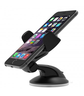 iOttie Easy Flex 3 Car Mount Holder for iPhone 6 (4.7) /5s/5c/4s, Samsung Galaxy S6/S6 Edge/ S4/S3 - Retail Packaging - Black