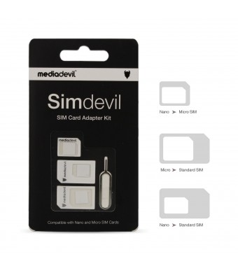 MediaDevil Simdevil 3-in-1 SIM card adapter kit (Nano / Micro / Standard)