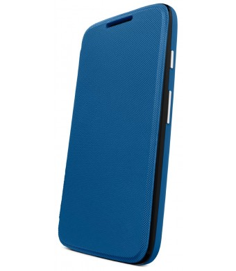 Motorola Flip Shell for Moto G - Retail Packaging - Royal Blue (1st Generation Only)