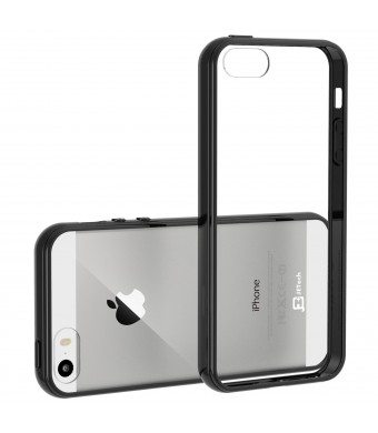iPhone 5s Case, JETech Apple iPhone 5/5S Case Bumper Shock-Absorption Bumper and Anti-Scratch Clear Back for iPhone 5/5S (Black)