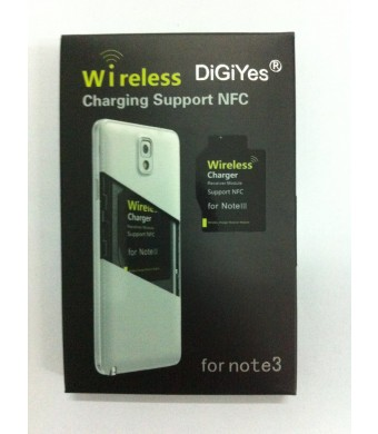 DigiYes Qi Standard Wireless Charger Module Receiver for Samsung Galaxy Note 3 Support NFC