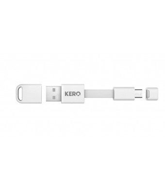 Kero Nomad Authentic Nomad Cable (MCU-W)- Blue Micro USB 2.0 A Micro B A 3 Micro USB Charge (White)