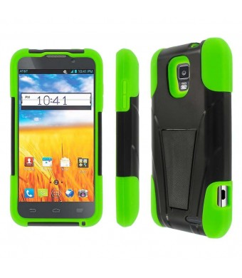 ATandT Z998 Case, MPERO IMPACT X Series Dual Layered Tough Durable Shock Absorbing Silicone Polycarbonate Hybrid Kickstand Case for Z998 [Perfect Fit