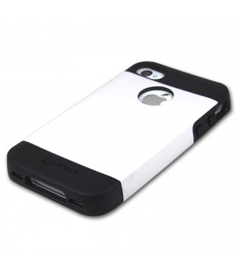 iPhone 4 Case, JETech Gold Super Fit iPhone 4/4S Case for Apple iPhone 4 4S Logo Cut-Out Fits ATandT, Sprint, Verizon, T-Mobile - White