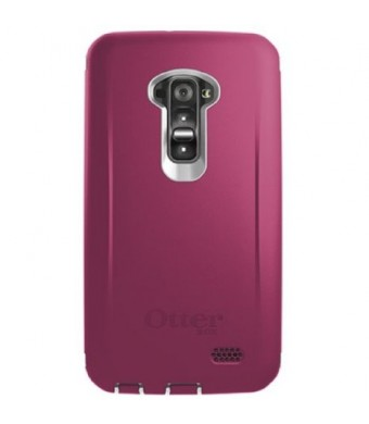 OtterBox Defender Case for LG G Flex - Retail Packaging - Papaya (White/Peony Pink) (Discontinued by Manufacturer) (not for FLEX 2)