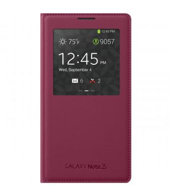 Samsung Galaxy Note 3 Case S View Flip Cover Folio - Plum Red