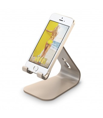 elago M2 Stand for all iphones, Galaxy and Smartphones (Angled Support for FaceTime), Champagne Gold