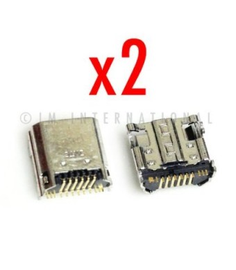 ePartSolution-2 X Samsung Galaxy Tab 3 P5200 P3200 P3210 T211 T210/R/L Charger Charging Port Dock Connector USB Port Repair Part USA Seller