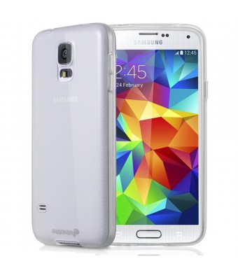 Samsung Galaxy S5 Case, Fosmon DURA-CANDY Glossy Ultra SLIM-Fit Case Flexible Cover for Samsung Galaxy S5 - Retail Packaging (Clear)