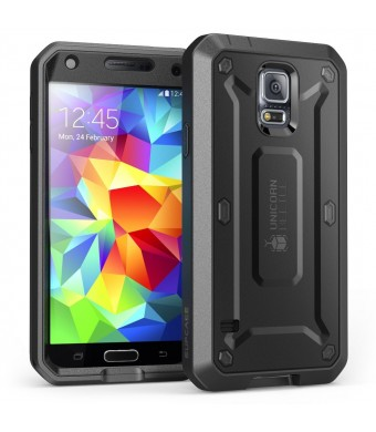 Galaxy S5 Case, SUPCASE [Heavy Duty] Samsung Galaxy S5 Case [Unicorn Beetle PRO Series] Full-body Rugged Case with Built-in Screen Protector (Black/B
