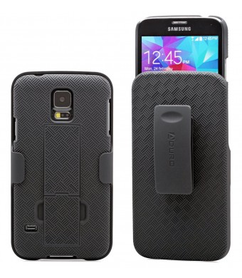 "Aduro Shell Holster Combo Case for Samsung Galaxy S5 ""Lifetime Warranty""  with Kick-Stand and Belt Clip (ATandT, Verizon, T-Mobile, US Cellular and"