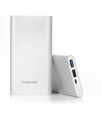Poweradd™ Pilot 2GS 10000mAh Portable Charger with Auto Detect Technology External Battery Power Bank Fast Charging for iPhone 6 Plus 5S 5C 5 4S, iPa