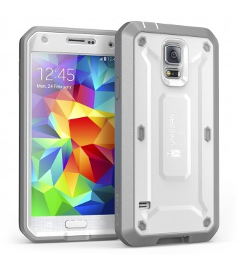 Galaxy S5 Case, SUPCASE [Heavy Duty] Samsung Galaxy S5 Case [Unicorn Beetle PRO Series] Full-body Rugged Case with Built-in Screen Protector (White/G