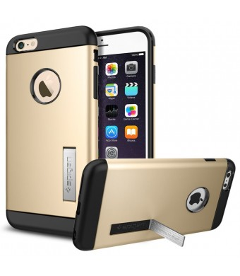 iPhone 6 Plus Case, Spigen [STAND FEATURE] Slim Armor Case for iPhone 6 Plus (5.5-Inch) - Champagne Gold (SGP10907)