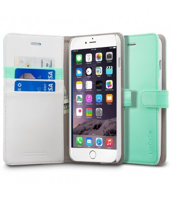 iPhone 6 Plus Case, Spigen [Stand Feature] iPhone 6 Plus (5.5) Case Wallet [Wallet S] [Mint] Premium Wallet Case STAND Flip Cover for iPhone 6 Plus (