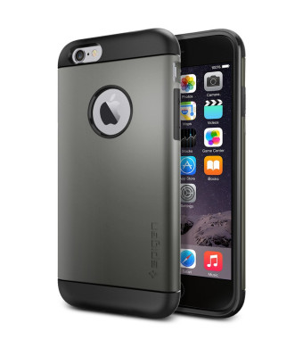 Spigen Slim Armor iPhone 6 Case with Air Cushion Technology and Hybrid Drop Protection for iPhone 6S / iPhone 6 - Gunmetal
