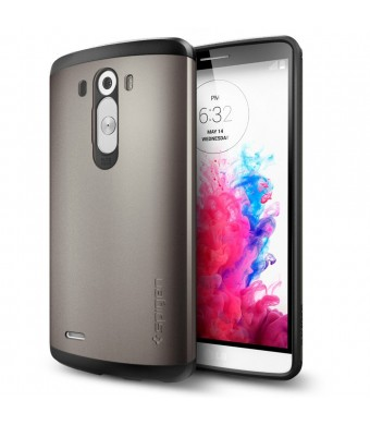 LG G3 Case, Spigen Slim Armor Case for LG G3 - Retail Packaging - Gunmetal (SGP10867)