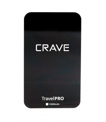 Crave Travel Pro 13000mAh Dual USB Portable Charger Ultra-High density External Battery Pack for Apple iPod, iPhone 4, 4S, 5, 5s, 6, 6+, 6 Plus, iPad