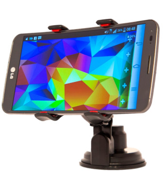 NEW, STRONGER BASE! | ISOSGear Smartphone Car Mount for Dashboard, Windshield, or Desk v2.0 | The Stickiest and Sturdiest Mobile Phone Mount Using Ad
