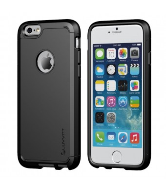 iPhone 6 Case, LUVVITT ULTRA ARMOR iPhone 6 Case [NEW IMPROVED DESIGN and LIFETIME WARRANTY] Double Layer Shock Absorbing Black iPhone 6 Cover | Best