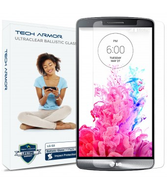 Tech Armor LG G3 Premium Ballistic Glass Screen Protector - Protect Your Screen from Scratches and Drops - Maximize Your Resale Value - 99.99% Clarit