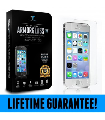 ARMORGLASS HD - Tempered Glass Screen Protector for apple iPhone 5/5s/5c - Crystal Clear Hd Quality - Ballistic Glass Shield - Bubble Free Guaranteed