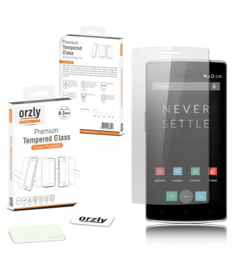 Orzly - OnePlus ONE Premium Tempered Glass 0.24mm Protective Screen Protector for the Original Premier Launch Model of SmartPhone called 'ONE' by ONE