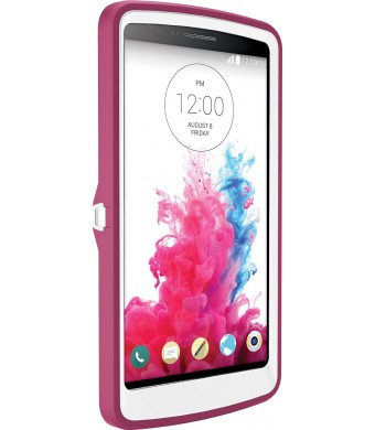 OtterBox Defender Series Case for LG G3 - Frustration-Free Packaging - Papaya (White/Peony Pink)