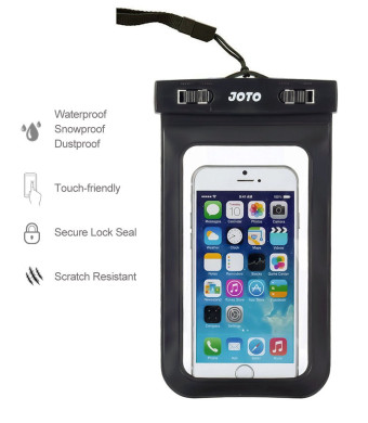 JOTO Universal Waterproof Case Bag for Apple iPhone 6, 6 Plus, 5S 5C 5 4S, Samsung Galaxy S6, S6 Edge, S5, S4, S3, Note 4 / 3 / 2 / 1, HTC One M9, M8