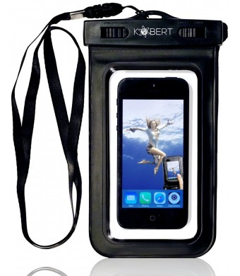 Kobert Waterproof Case - Premium Quality Pouch - Talk And Take Photos Through The Pouch - 2 Year Warranty - FREE STYLUS - Universal Pouch To Safeguar