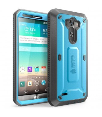 LG G3 Case, SUPCASE [Heavy Duty] LG G3 Case [Unicorn Beetle PRO Series] Full-body Rugged Hybrid Protective Case with Built-in Screen Protector (Blue/