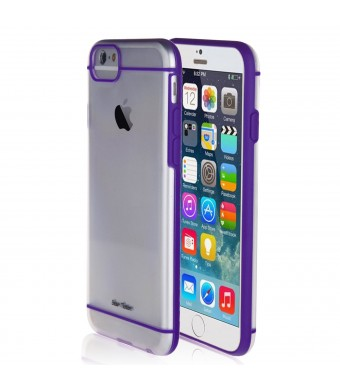 For iPhone 6 4.7 - Bear Motion Premium Dual-Tone PC TPU Case for iPhone 6 with 4.7 inch Screen (Purple)