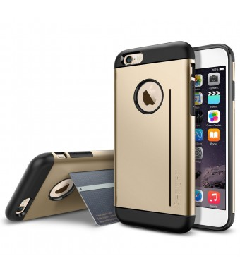iPhone 6 Case, Spigen [STAND FEATURE] Slim Armor S Case for iPhone 6 (4.7-Inch) - Champagne Gold (SGP10961)