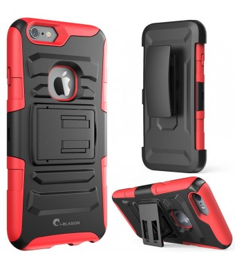 iPhone 6 Plus Case ,i-Blason Prime [Kickstand] Apple iPhone 6 Plus (5.5) 2014 New Release [Heavy Duty] [Dual Layer] Combo Holster Cover case with [Lo