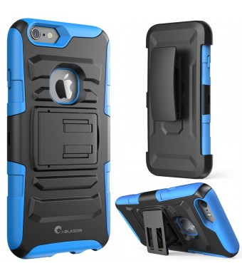 iPhone 6 Plus Case, [Heavy Duty Holster] i-Blason Prime **KickStand** Apple iPhone 6 Plus (5.5) Dual Layer Combo Holster Cover case with Kickstand an