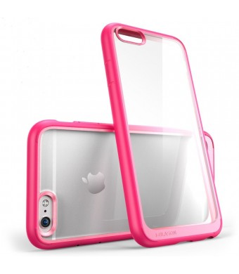 iPhone 6 Case , [Scratch Resistant] i-Blason **Clear** Halo Series Apple iPhone 6 Case 4.7 inch Hybrid Cover (Pink)