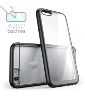 iPhone 6 Plus Case , [Scratch Resistant] i-Blason **Clear** [Halo Series] Apple iPhone 6 Plus Hybrid Bumper Case 5.5 inch Cover (Clear/Black)