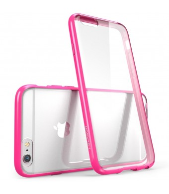 iPhone 6 Plus Case , [Scratch Resistant] i-Blason **Clear** [Halo Series] Apple iPhone 6 Plus Hybrid Bumper Case 5.5 inch Cover (Clear/Pink)