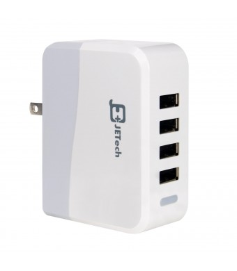 Wall Charger, JETech 4-Port USB US Wall Charger Travel Power Adapter Portable Travel Charger for Apple iPhone 6/5/5S/5C/4/4S, iPad, iPad Air, iPad mi