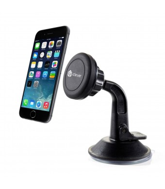 Car Mount, iClever ICH04 Magnet CaptureFit Universal Windshield and Dashboard Car Mount Cradle Holder for iPhone 6 Plus 5S 5C 5 4S; Samsung Galaxy S6