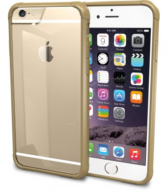 "iPhone 6 Case - PureView Clear Case for iPhone 6 (4.7"" ) by Silk - Ultra Slim Protective Crystal Clear Carrying Case (Champagne Gold)"