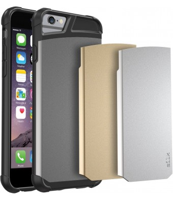 "iPhone 6 Case - Silk Armor Tough Case for iPhone 6 (4.7"" ) - Military-Grade  Stealth Carrying Case (Includes 3 interchangeable backplates: Gunmetal/G"