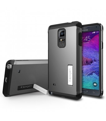 Galaxy Note 4 Case, Spigen Tough Armor Case for Galaxy Note 4 - Gunmetal (SGP11139)
